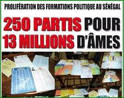 Nombre de partis politiques au Sénégal