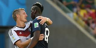 schweinsteiger et Pogba à la fin du match France Allemagne