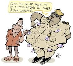 Un gendarme se faisant corrompre