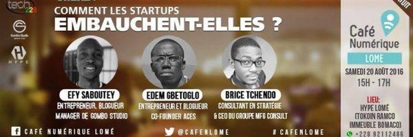Affiche de l'événément Café Numérique Lomé startups
