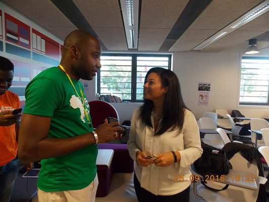 Sewa Wilson (mentor) et Ashley Lewis (Membre du Jury) au Startup Weekend Africa Tours