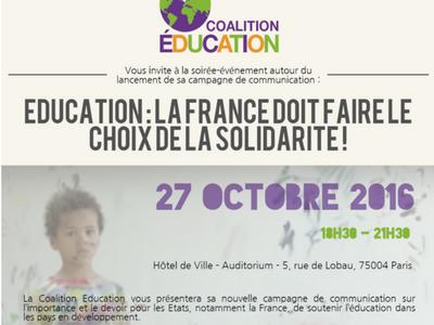 Pour une augmentation de l'aide publique française à l'éducation