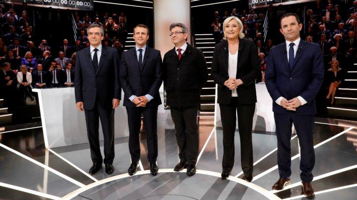 François Fillon, Benoît Hamon, Marine Le Pen, Emmanuel Macron et Jean-Luc Mélenchon se sont affrontés lundi soir pour la première fois.