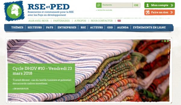 RSE-et-PED est la première source d'information francophone indépendante et multipartite sur la Responsabilité Sociale des Entreprises dans les pays émergents et en développement.